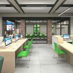 Projekt wnętrza biblioteki miejskiej w Szczecinie