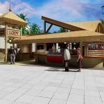 Projekt architektoniczny lokalu gastronomicznego w pobierowie