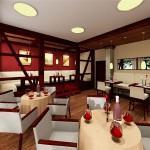 Projekt wnętrza restauracji w Hamburgu