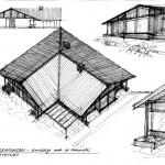 Projekt architektoniczny domu jednorodzinnego z budynkiem usługowym