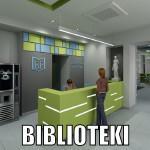 Projekt wnętrza bibloteki