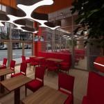 Kawiarnia City Break w CHR Galaxy w Szczecinie - Aranżacja wnętrza