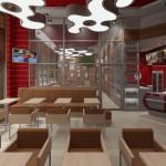 Kawiarnia City Break - Projekt wnętrz